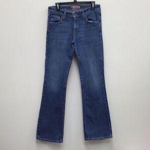 Levis Strauss Superlow Boot Cut 518 Blue Jeans